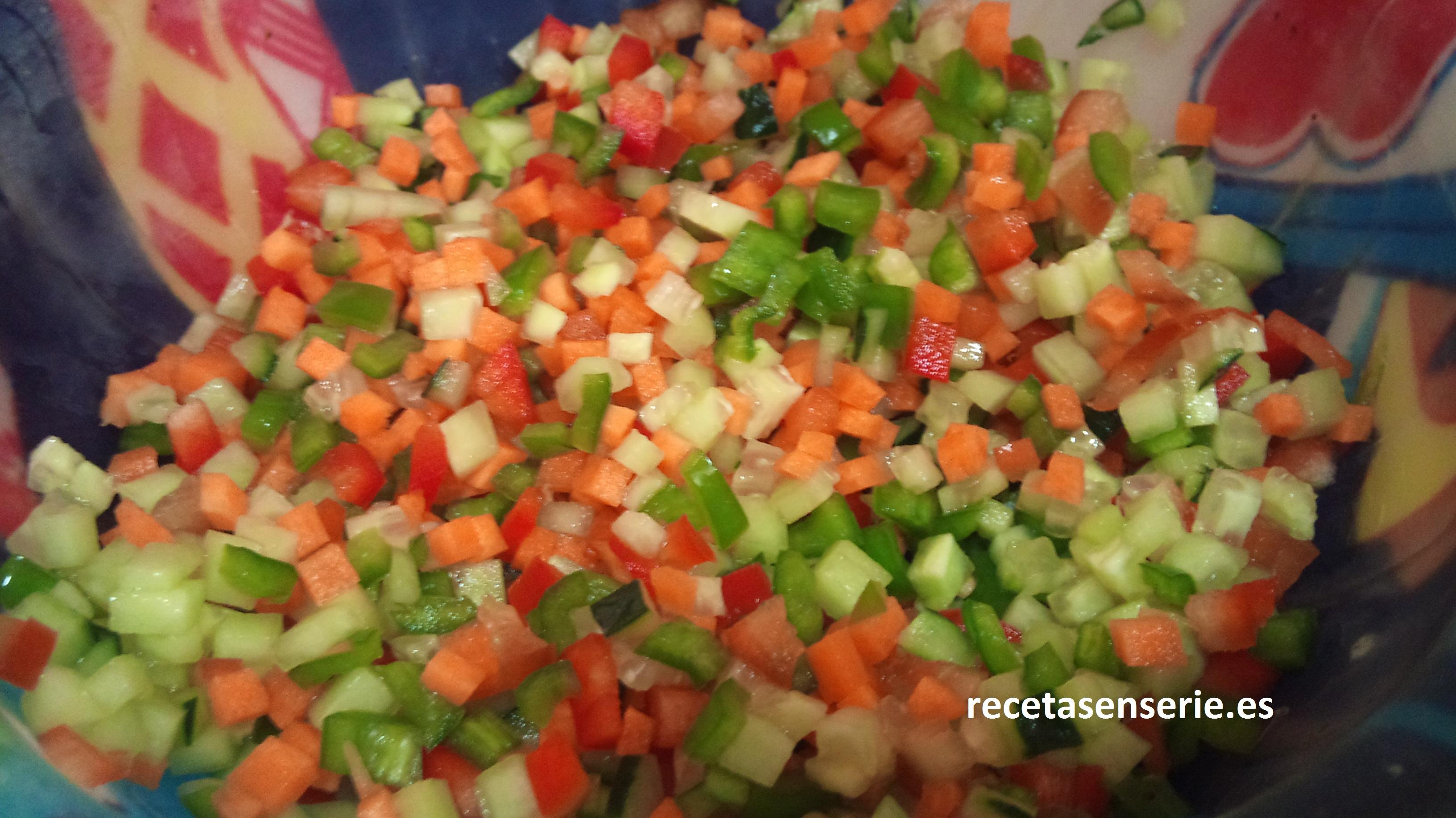 Corte brunoise recetas en serie for Cortes de verduras gastronomia pdf